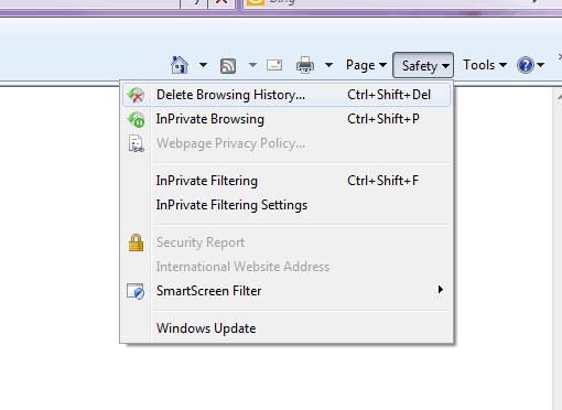 Internet Explorer Private Browsing Mode