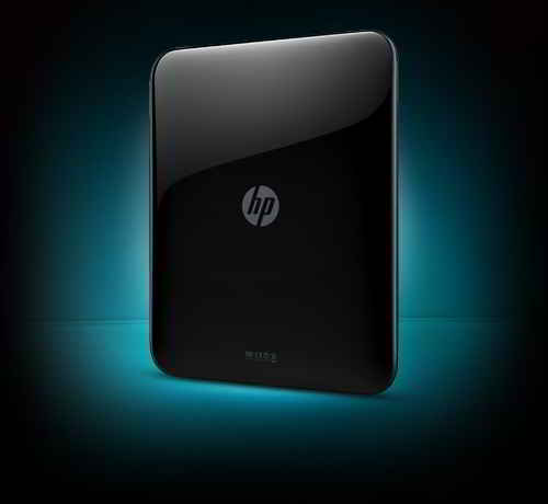 HP Touchpad Back View