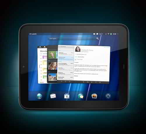 HP Touchpad Front View